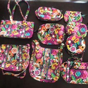 Vera Bradley Va Va Bloom bag bundle NWOT or EUC